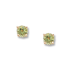 4 mm Peridot Earrings