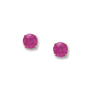 4 mm Pink Tourmaline Earrings