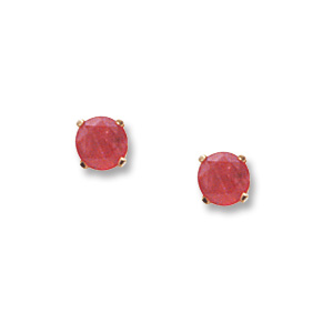 4 mm Ruby Earrings