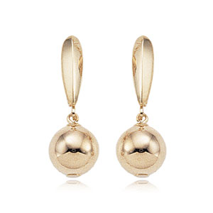 8 mm Ball Lever Back Drop Earrings