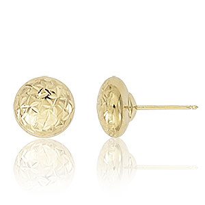 8mm Diamond Cut Ball Earrings