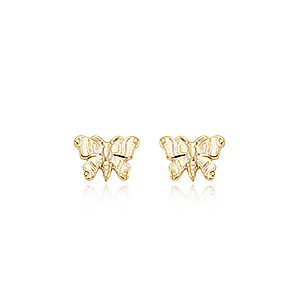 Embossed Butterfly Earrings