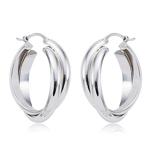 Intersecting Hoop Earrings