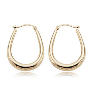 Large V-Shape Hoop Earrings