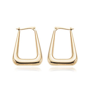 Long U-Shape Hoop Earrings