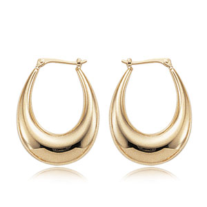 Medium Polished Hoop Earrings