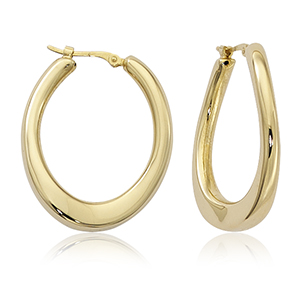"Offset ""U"" Hoop Earrings"