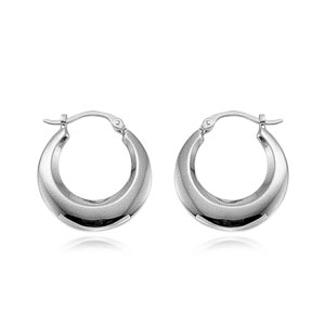 Plain Medium Shell Hoop Earrings