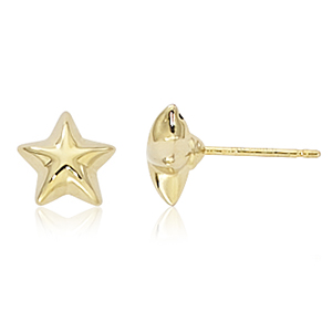 Puffed Star Earrings