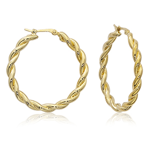 Round Twist Hoop Earrings