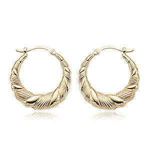 Small Ribbon Hoop Earrings