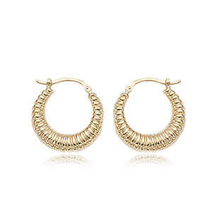 Small Shrimp Shell Hoop Earrings
