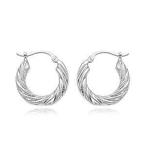 Small Swirl Shell Hoop Earrings