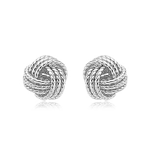 Sterling Silver Twisted Love Knot Earrings