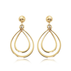 Double Pear Shape Drop Earrings