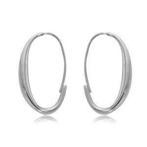 Endless Oval Hoop Earrings