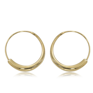 Graduated Endless Hoop Earrings