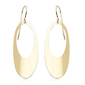 Open Oval Disco Earrings