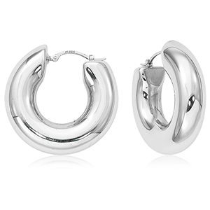 Sterling Silver Donut Hoop Earrings