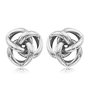Sterling Silver Triple Knot Earrings