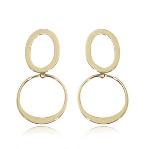Trembling Circle Earrings
