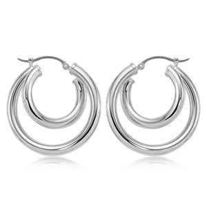 Two-Tiered Hoop Earrings