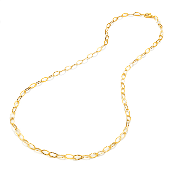 Hammered Oval Links Necklace