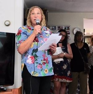 Grace (she/her) - Speaks at a luncheon for female political activists.