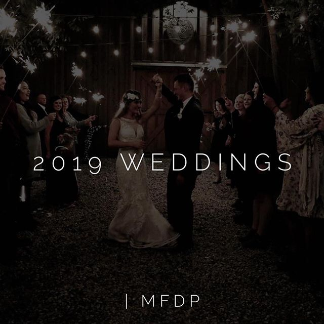 Our books are open for the 2019 Wedding season! We are so excited to be a part of your big day!