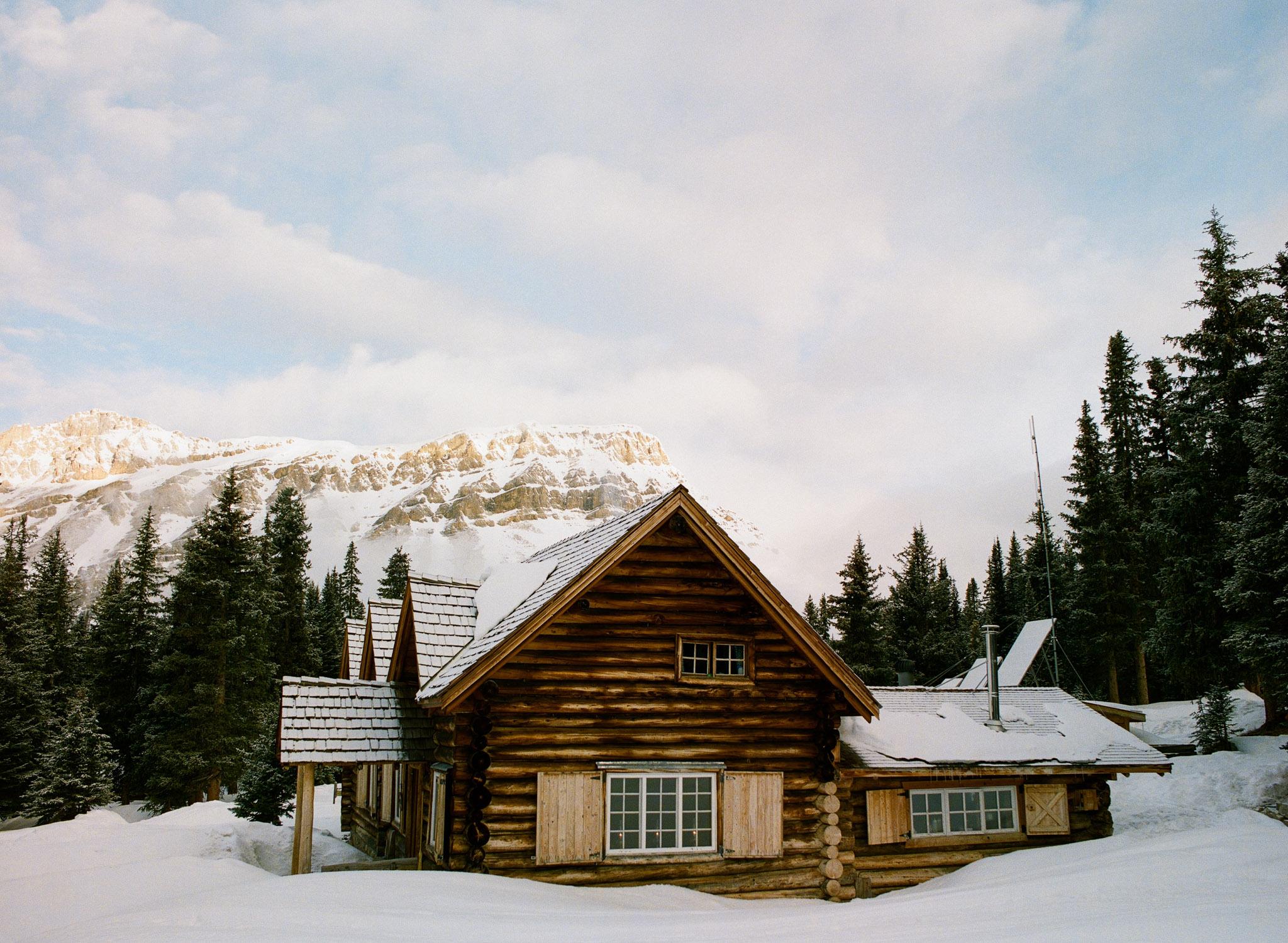 The historic Skoki Lodge. // Portra 800