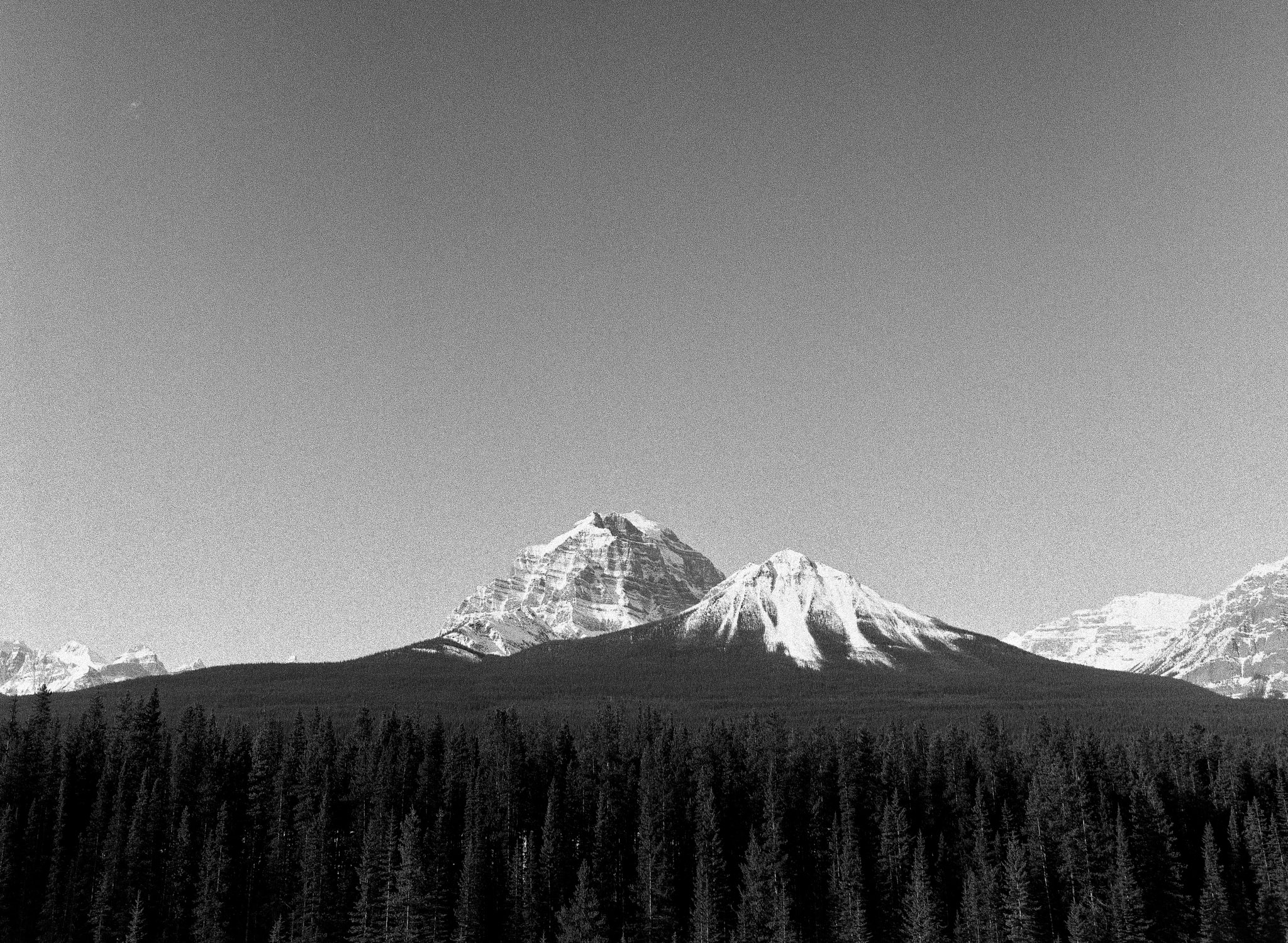 The mighty Mount Temple. // TMAX400
