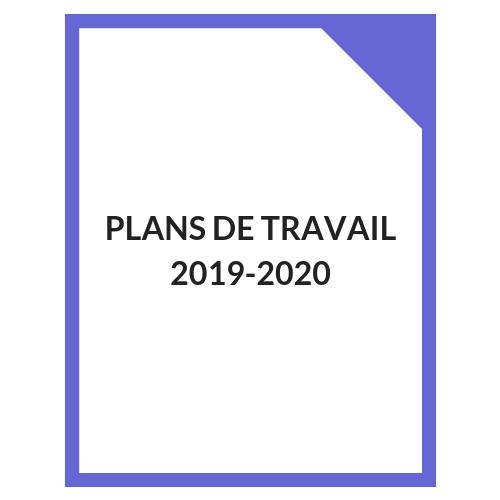 Plans de travail 2019-2020