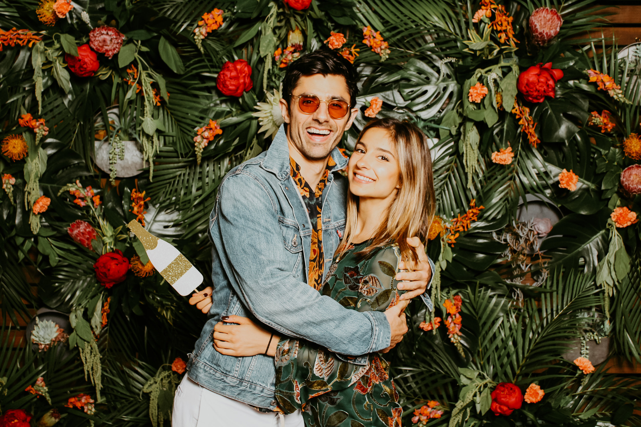 Modern Tropical Photo Booth Rental