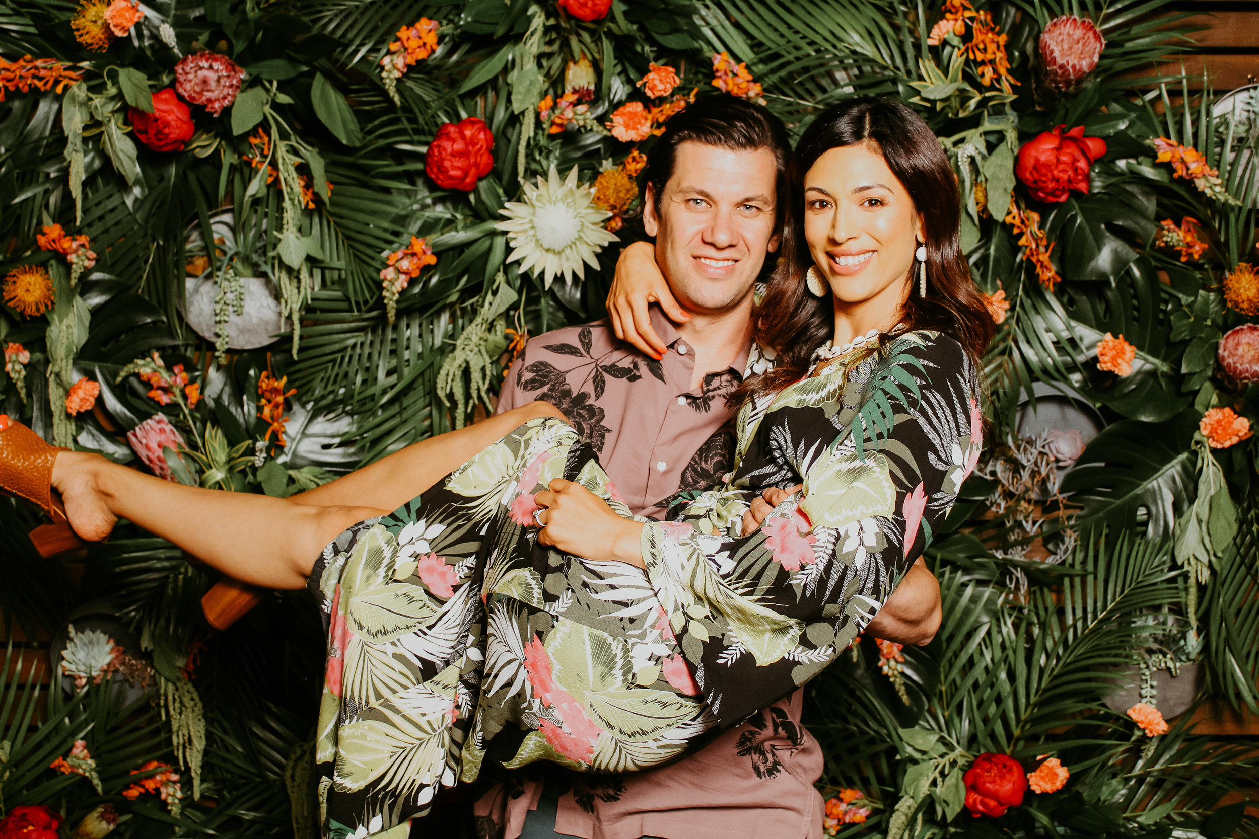 Tropical Wedding Photo Booth Rental