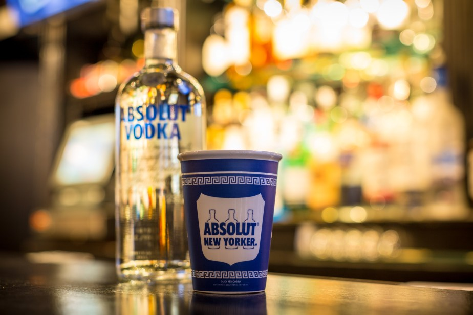 Absolut takes New York with on-premise coffee cart-inspired glassware.