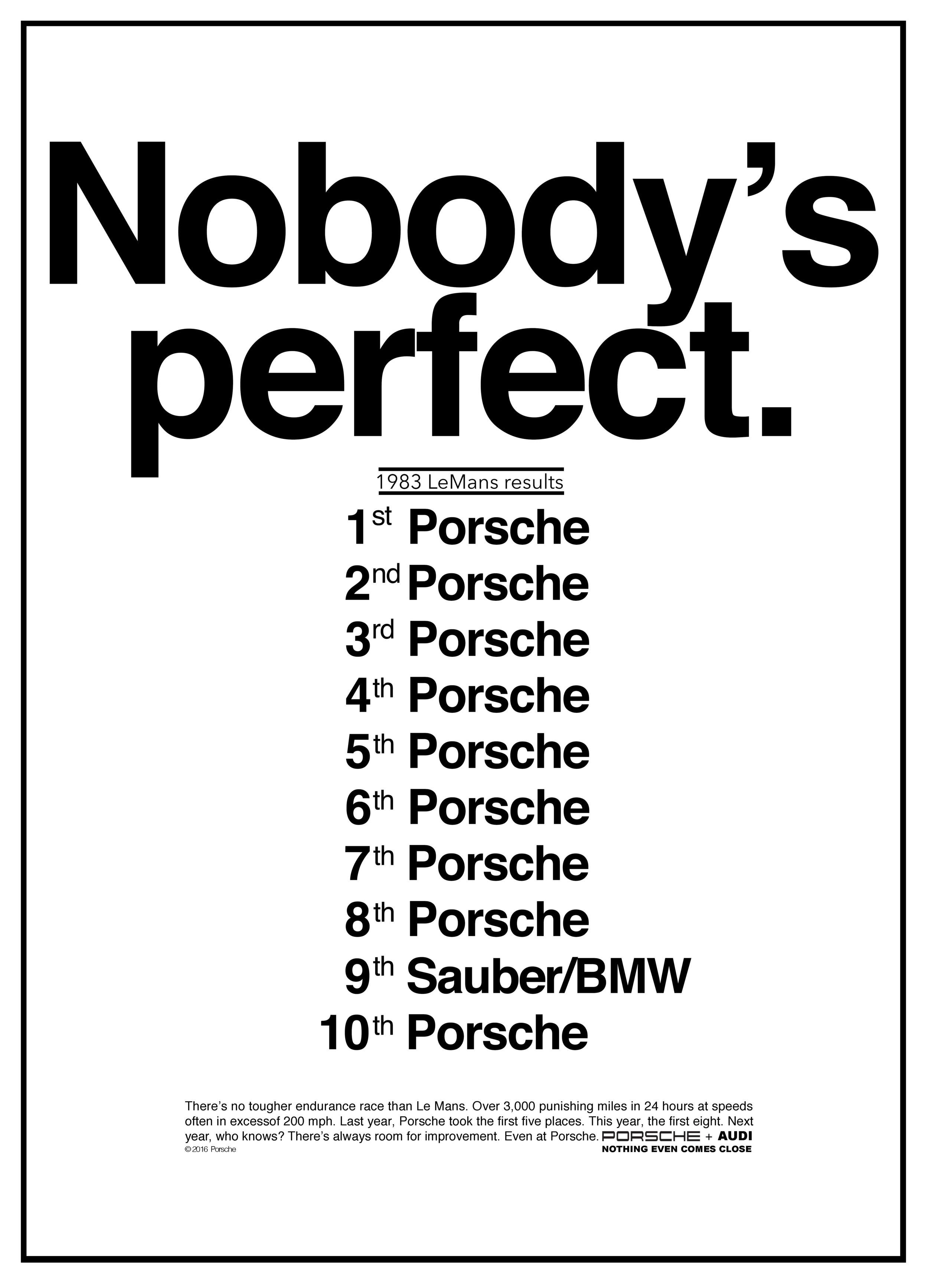 Vision, product and cultural relevance collide in this classic Porsche ad.