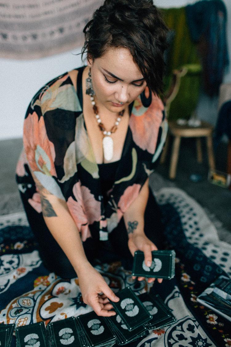 Siobhan of Ipseity Incandescent Healing Studio, Reiki Healing, Tarot and Guidance; Photo by Kendall Lauren www.kendalllauren.com