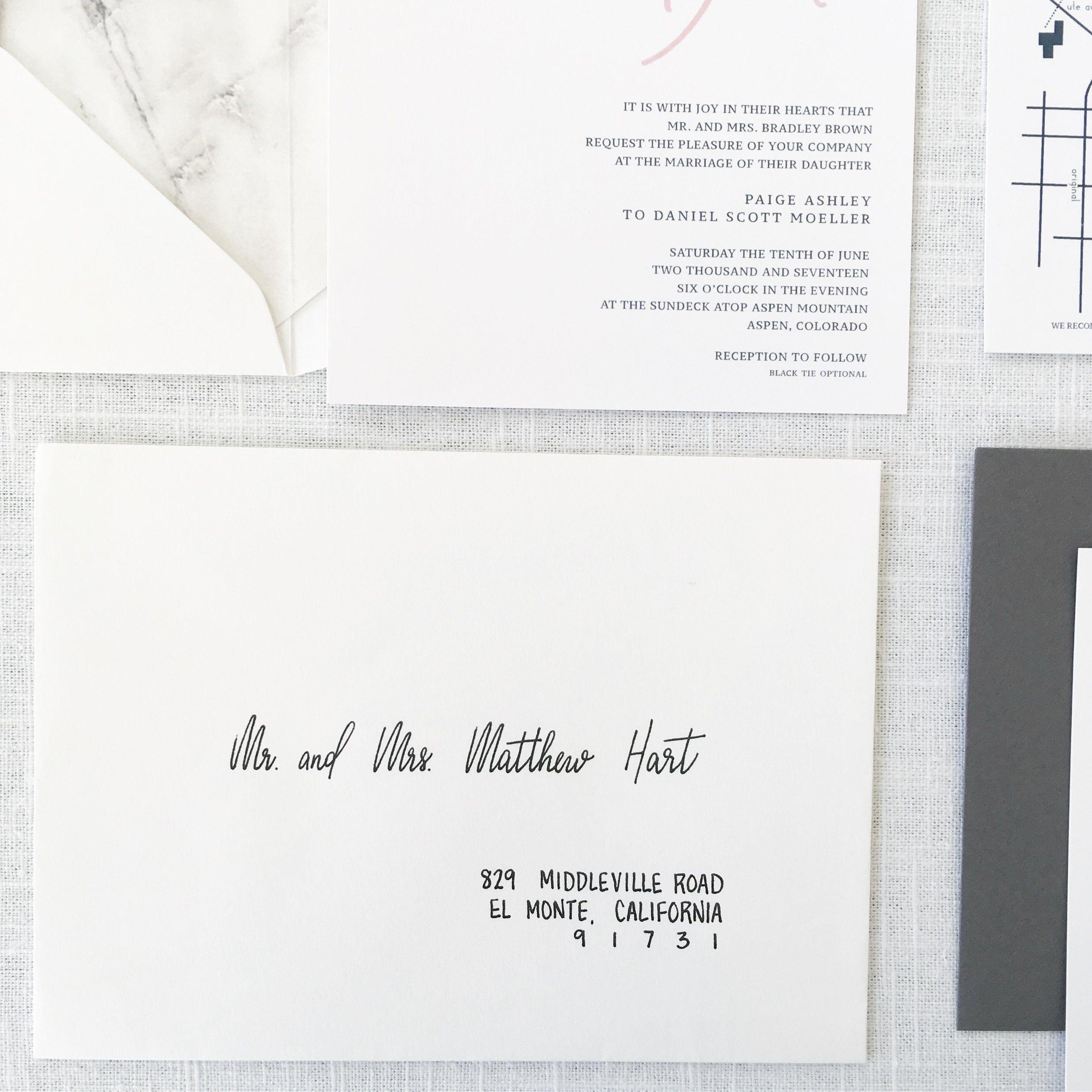 Modern Wedding Suite and Calligraphy