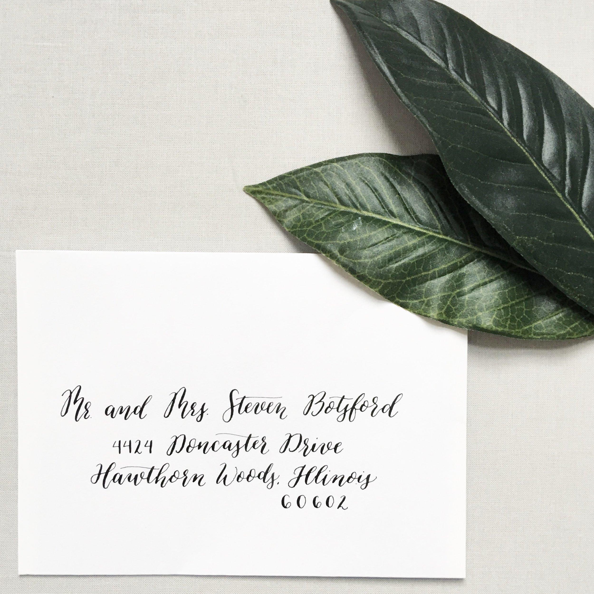 Modern Envelope Calligraphy