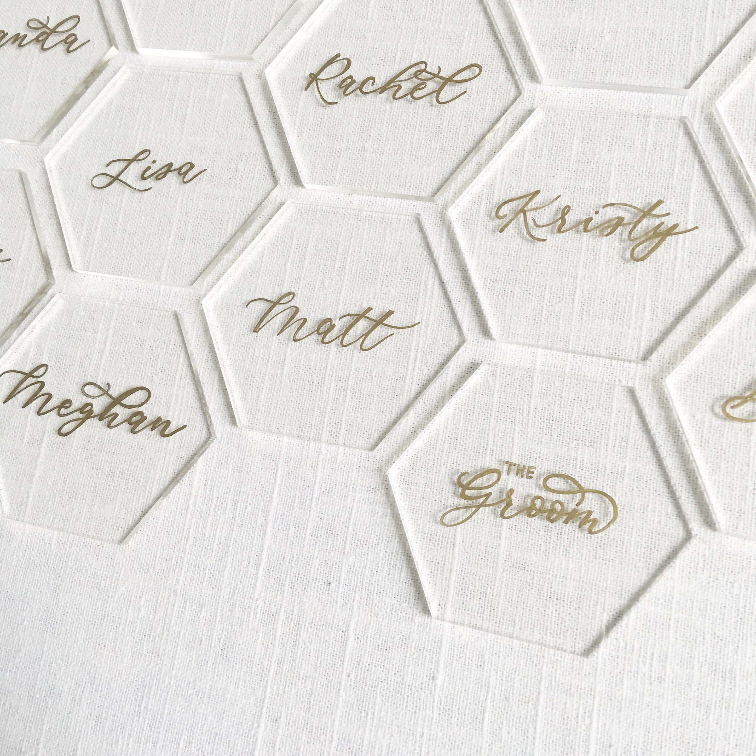 Acrylic Name Placecards