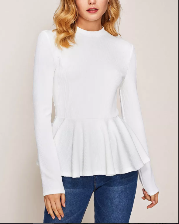 A peplum solution, what post baby belly? done.