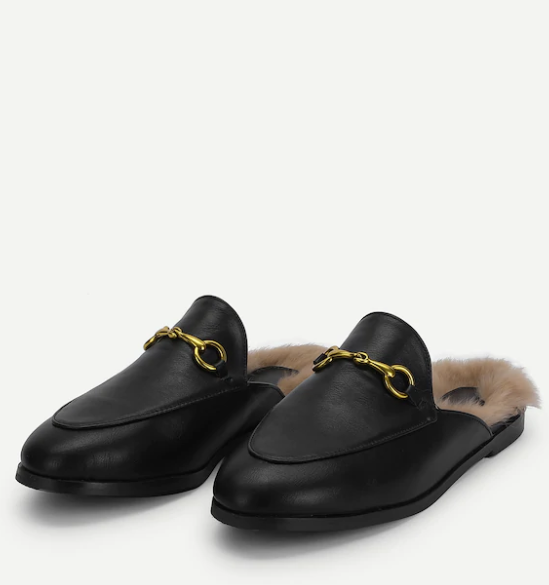 I grew up calling these Gucci inspired slip ons, sliiiides! They're  Mules , and comfy and cute and functional. and 300% less expensive. Dont you dare bend down to put those shoes on ma, sliiiide em on!