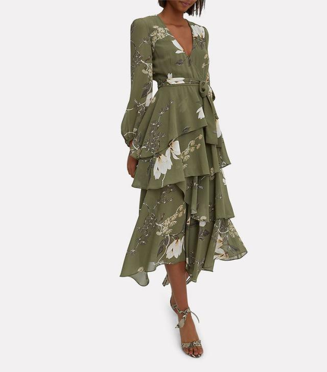 This flowy frock screams  please dont forget fall florals!