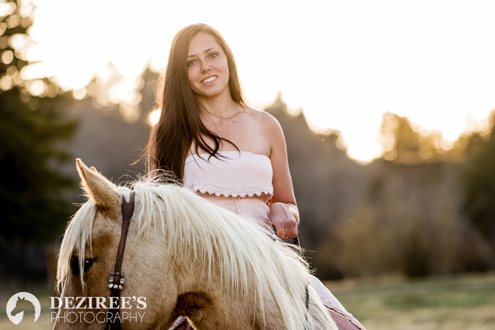 Paige - I had my session with Deziree in May. I was super excited to finally have some pictures with my colt, Cartel, but a little nervous given that he was young and didn't have much time under saddle. Deziree and Brad were awesome as usual. They helped keep Cartel calm, letting me walk him out when he needed a break and were super helpful in giving me leg ups and everything else I could have possibly needed. Deziree got many beautiful pictures of us together; even seven months later I'm still obsessed!