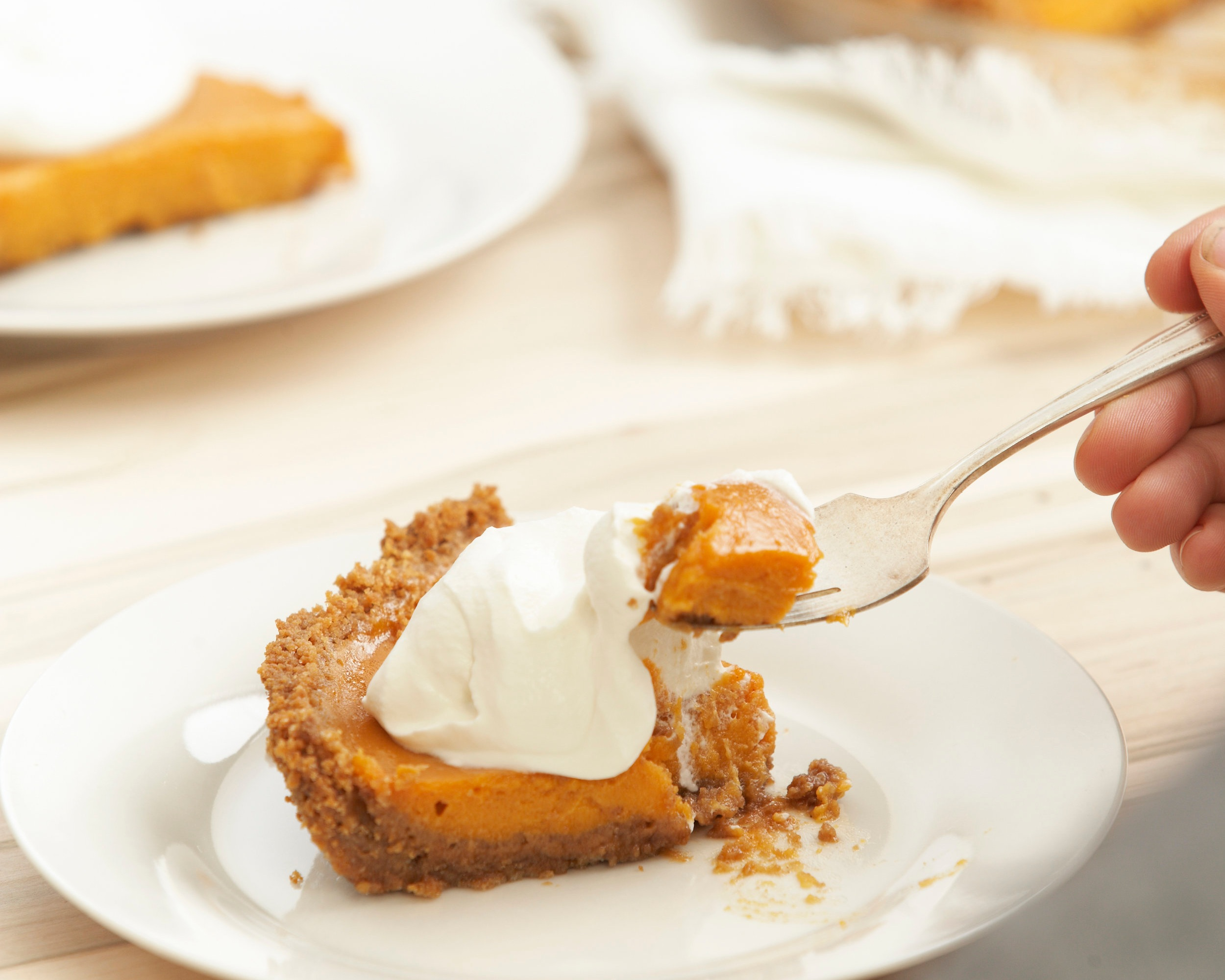 Sweet potato pie with gingersnap crust and maple whipped cream.jpg