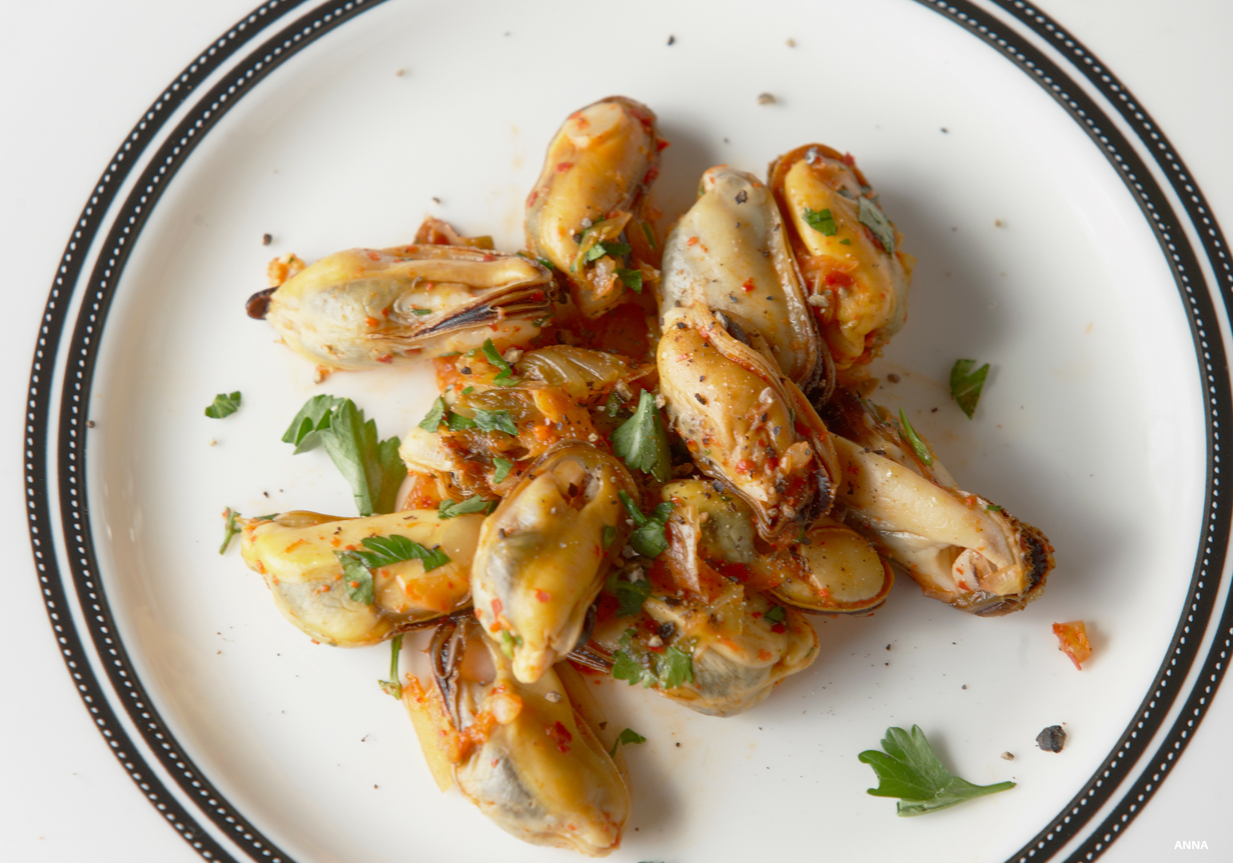Chef Scott Bagshaw's homeless mussels with lemon grass and kimchee.jpg