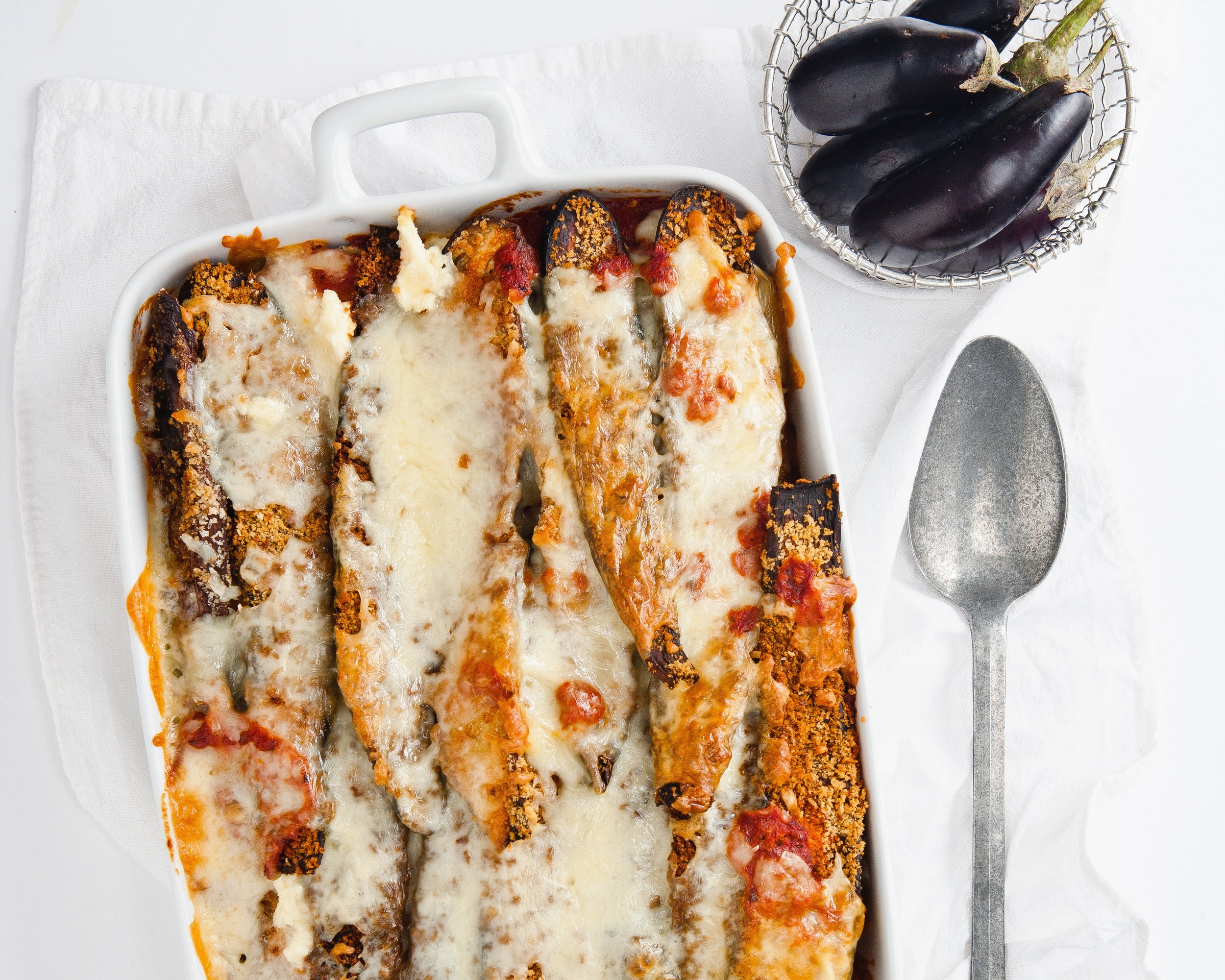 Baked eggplant with ricotta, Parmesan and mozzarella.jpg