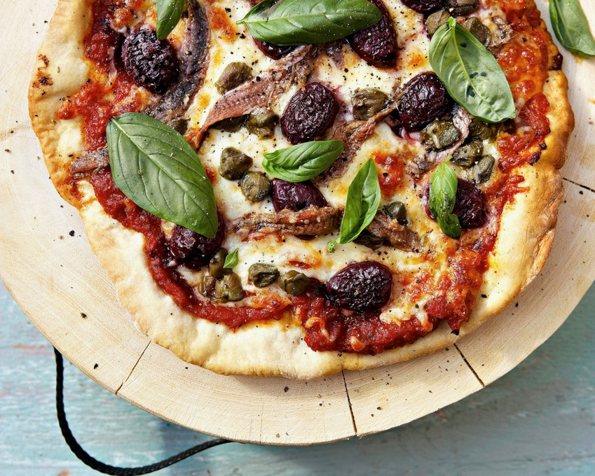 Pizza with anchovies, black olives and capers.jpg