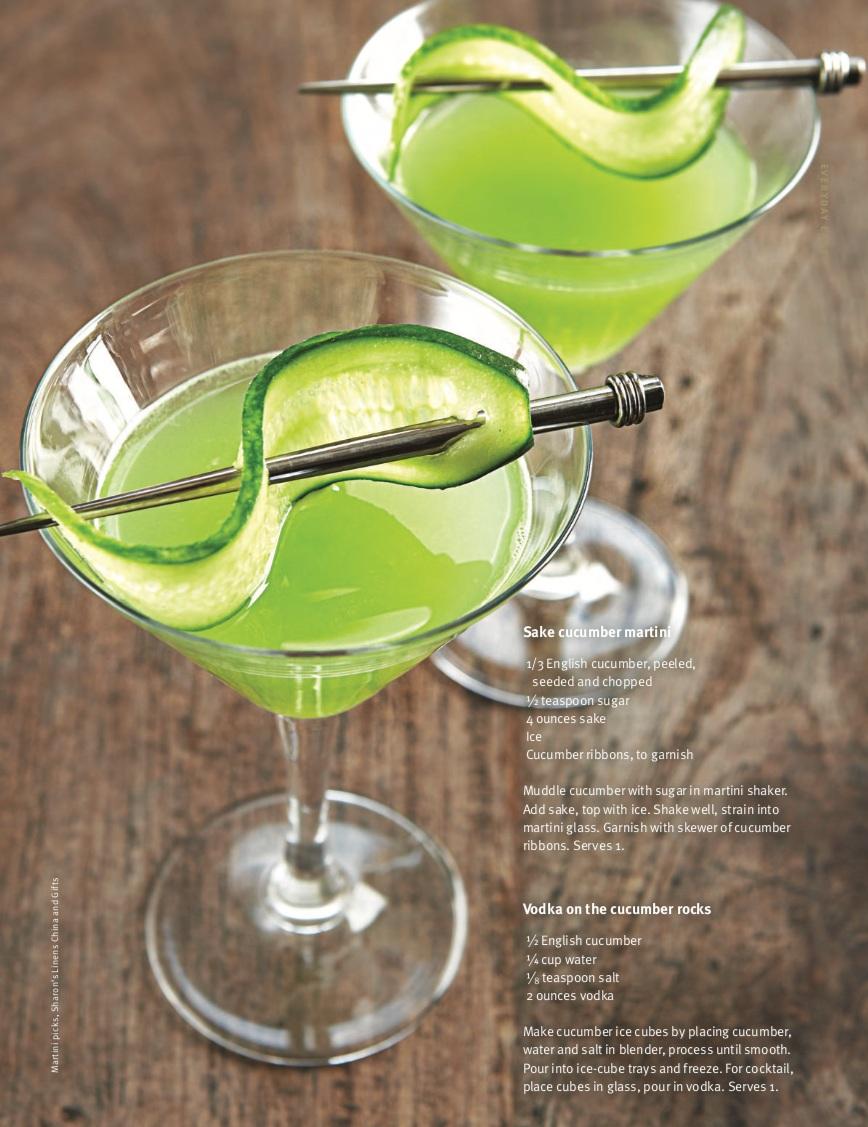 Vodka on the cucumber rocks