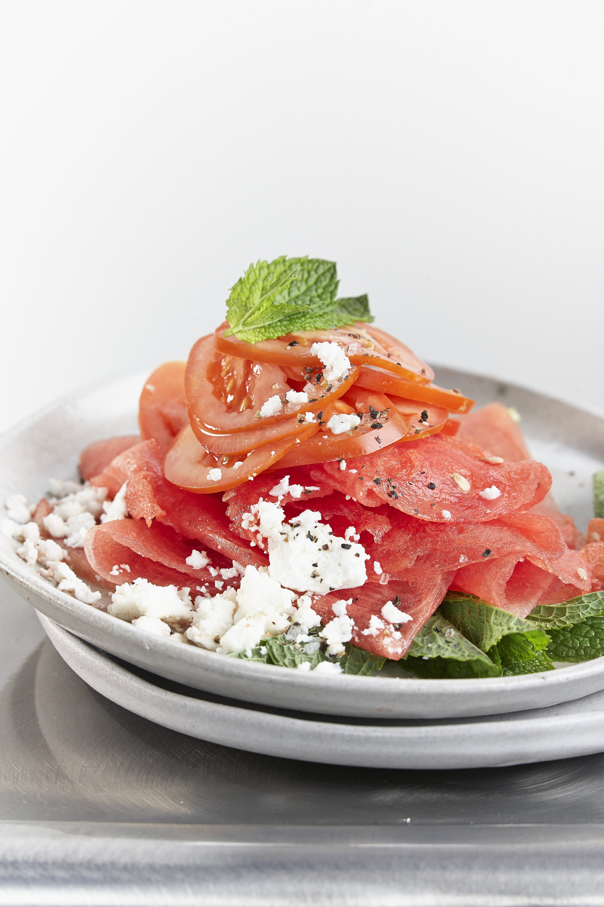 Tomato watermelon salad with feta and mint.jpg